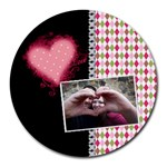 Love - Mousepad - Collage Round Mousepad