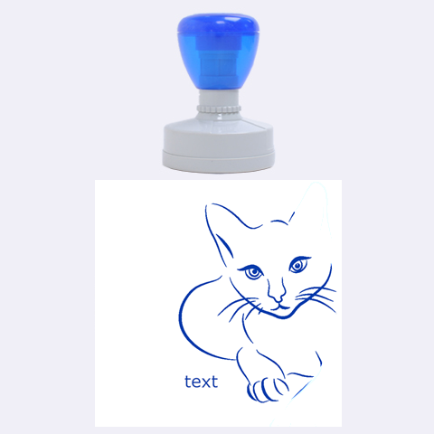 Cat By Divad Brown   Rubber Stamp Round (large)   E8wdh3n2gvfq   Www Artscow Com 1.875 x1.875  Stamp