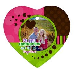 My Best Memories   Ornament By Digitalkeepsakes   Heart Ornament (two Sides)   As32uh7p699s   Www Artscow Com Back