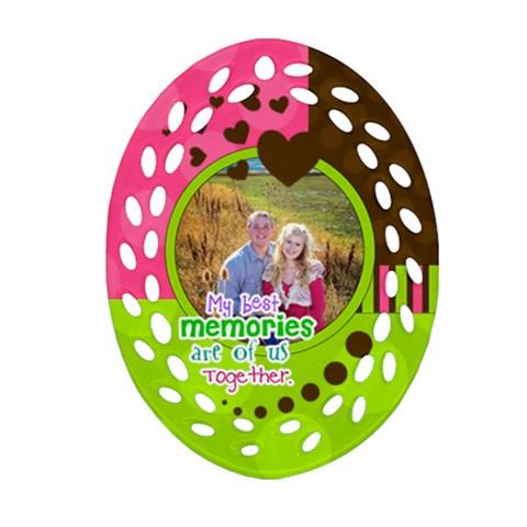 My Best Memories   Ornament By Digitalkeepsakes   Ornament (oval Filigree)   Ct9dz4ylr03v   Www Artscow Com Front