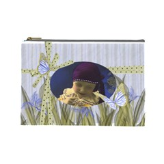 Iris Aquarel Make Up By Cari    Cosmetic Bag (large)   8gc3clby0jfn   Www Artscow Com Front
