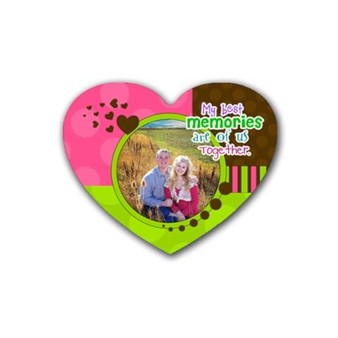 My Best Memories   Coaster By Digitalkeepsakes   Rubber Coaster (heart)   G0jc0i9av84h   Www Artscow Com Front