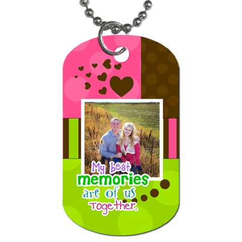 My Best Memories  Dog Tag By Digitalkeepsakes   Dog Tag (one Side)   Zuvsbz6bqsht   Www Artscow Com Front
