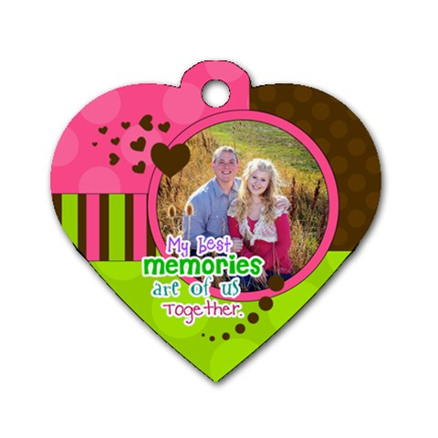 My Best Memories   Heart Dog Tag By Digitalkeepsakes   Dog Tag Heart (one Side)   812wteys783w   Www Artscow Com Front