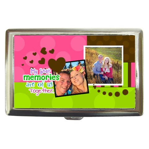 My Best Memories Are Of Us Together By Digitalkeepsakes   Cigarette Money Case   2uobo1v8wkgm   Www Artscow Com Front