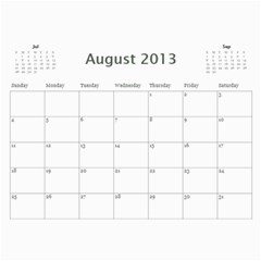 2013 By Kristiania Anderson Knipler   Wall Calendar 11  X 8 5  (12 Months)   Bghi7a66cora   Www Artscow Com Aug 2013