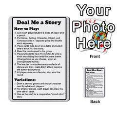 Deal Me A Story Cards By Vickie Boutwell   Multi Purpose Cards (rectangle)   00j15fphwnsv   Www Artscow Com Front 1
