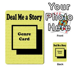 Deal Me A Story Cards By Vickie Boutwell   Multi Purpose Cards (rectangle)   00j15fphwnsv   Www Artscow Com Back 3