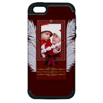 merry christmas, new year, happy, family, kids - Apple iPhone 5 Hardshell Case (PC+Silicone)
