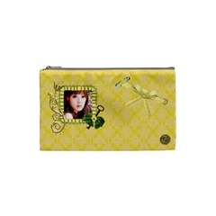 Cosmetic Bag (small)  Yellow By Joanne5   Cosmetic Bag (small)   Ad2c0zrj0t52   Www Artscow Com Front