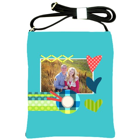 Playful Hearts By Digitalkeepsakes   Shoulder Sling Bag   Bj6xx2dbt4kf   Www Artscow Com Front