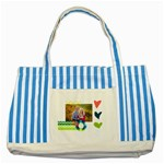 Playful Hearts - Striped Blue Tote Bag