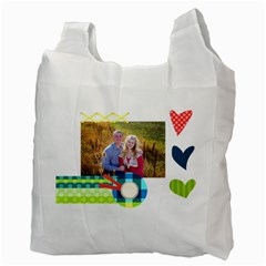 Playful Hearts By Digitalkeepsakes   Recycle Bag (two Side)   Qaskgrgf687y   Www Artscow Com Back