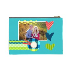 Playful Hearts By Digitalkeepsakes   Cosmetic Bag (large)   I0d4frayitaq   Www Artscow Com Back