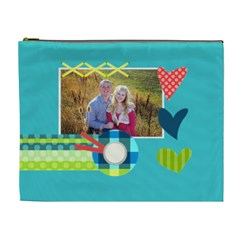Playful Hearts By Digitalkeepsakes   Cosmetic Bag (xl)   7f4mf0je11nf   Www Artscow Com Front