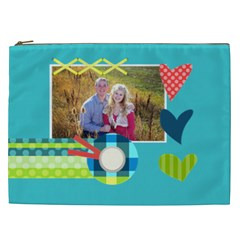 Playful Hearts By Digitalkeepsakes   Cosmetic Bag (xxl)   Zd38soun9t8k   Www Artscow Com Front