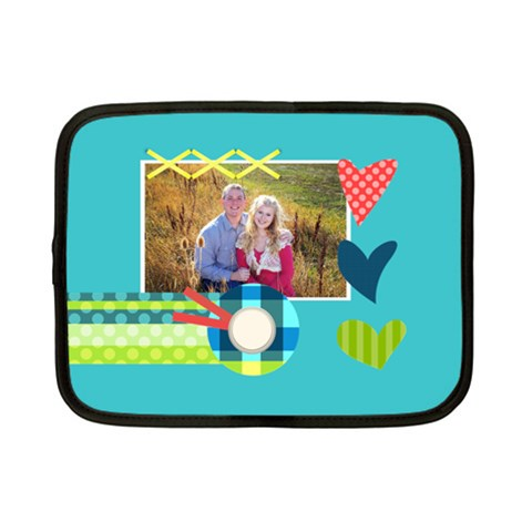 Playful Hearts By Digitalkeepsakes   Netbook Case (small)   3myek8200eqh   Www Artscow Com Front
