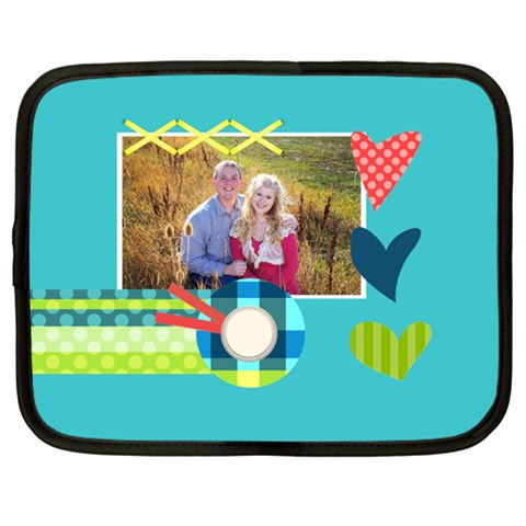 Playful Hearts By Digitalkeepsakes   Netbook Case (large)   2dzscu3jyxd1   Www Artscow Com Front