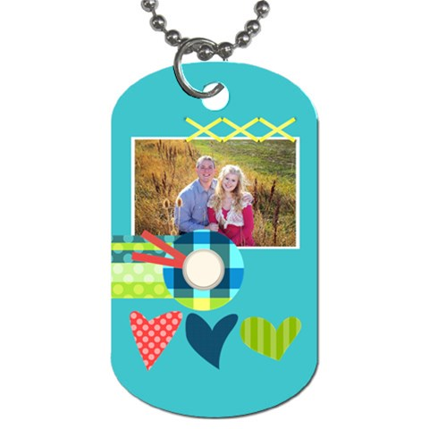Playful Hearts By Digitalkeepsakes   Dog Tag (one Side)   Z0xwtq9jkp1r   Www Artscow Com Front