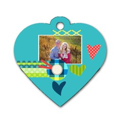 Playful Hearts By Digitalkeepsakes   Dog Tag Heart (two Sides)   463lfsazbr7k   Www Artscow Com Back
