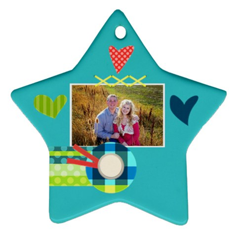 Playful Hearts By Digitalkeepsakes   Ornament (star)   Aglvlsf0iqo8   Www Artscow Com Front
