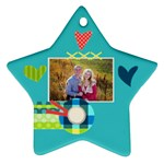 Playful Hearts - Star Ornament (Two Sides)