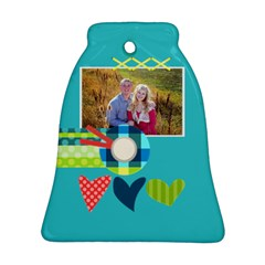 Playful Hearts By Digitalkeepsakes   Bell Ornament (two Sides)   Dh9jz69u85h7   Www Artscow Com Back