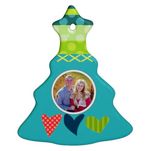 Playful Hearts By Digitalkeepsakes   Ornament (christmas Tree)    Wps65y90qis9   Www Artscow Com Front