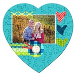 Playful Hearts - Jigsaw Puzzle (Heart)