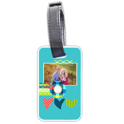 Playful Hearts By Digitalkeepsakes   Luggage Tag (one Side)   Kw3ns59f64ul   Www Artscow Com Front