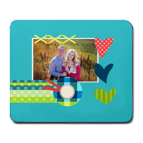 Playful Hearts By Digitalkeepsakes   Collage Mousepad   Okrowp76zgb6   Www Artscow Com 9.25 x7.75 Mousepad - 1