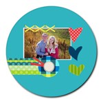 Playful Hearts - Round Mousepad