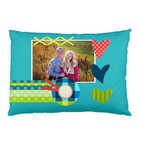 Playful Hearts By Digitalkeepsakes   Pillow Case   Ezvg8z892h88   Www Artscow Com 26.62 x18.9 Pillow Case