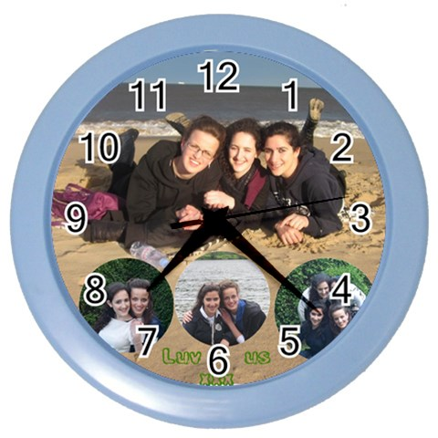 Clock By Ruth   Color Wall Clock   W6r8p9vh9mn3   Www Artscow Com Front