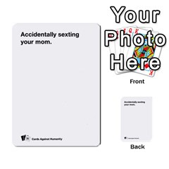 Cah Custom Deck Template 1 By Steven   Multi Purpose Cards (rectangle)   Q8jlzb3bd6re   Www Artscow Com Front 8
