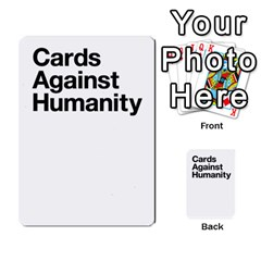 Cah Custom Deck Template 1 By Steven   Multi Purpose Cards (rectangle)   Q8jlzb3bd6re   Www Artscow Com Back 8