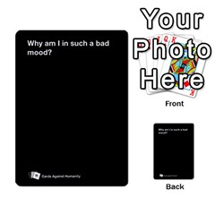 Cah Custom Deck Template 1 By Steven   Multi Purpose Cards (rectangle)   Q8jlzb3bd6re   Www Artscow Com Front 50
