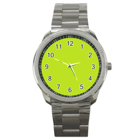 Green Watch By Carly Persons   Sport Metal Watch   Kedaiqnsvuy6   Www Artscow Com Front