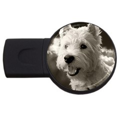 Westie.puppy 4Gb USB Flash Drive (Round) by Koalasandkangasplus