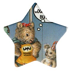 Wombat Woman Ceramic Ornament (Star) by Koalasandkangasplus