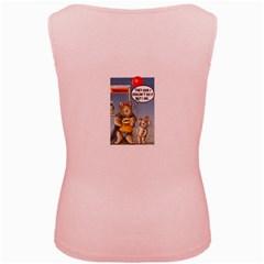 Wombat Woman Pink Womens  Tank Top by Koalasandkangasplus