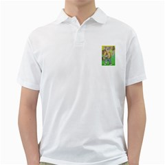 Green Gold Swaggie White Mens  Polo Shirt by Koalasandkangasplus