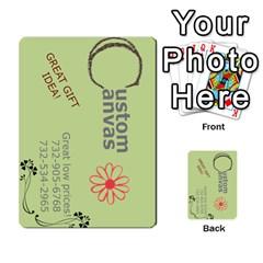 Custom Canvas Business Card By F Blau   Multi Purpose Cards (rectangle)   Czq3zmka8pkr   Www Artscow Com Front 1