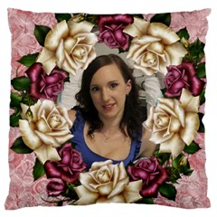 Roses And Lace 2 Large Cushion Case (2 Sided) By Deborah   Large Cushion Case (two Sides)   6n22dkmwjzst   Www Artscow Com Front