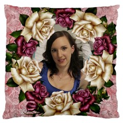 Roses And Lace 2 Large Cushion Case (2 Sided) By Deborah   Large Cushion Case (two Sides)   6n22dkmwjzst   Www Artscow Com Back