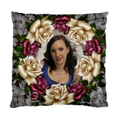 Roses And Lace Cushion Case (2 Sided) By Deborah   Standard Cushion Case (two Sides)   K956f1v7fegh   Www Artscow Com Front