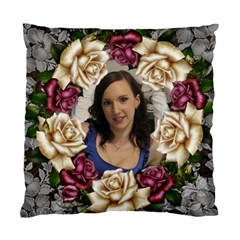 Roses And Lace Cushion Case (2 Sided) By Deborah   Standard Cushion Case (two Sides)   K956f1v7fegh   Www Artscow Com Back