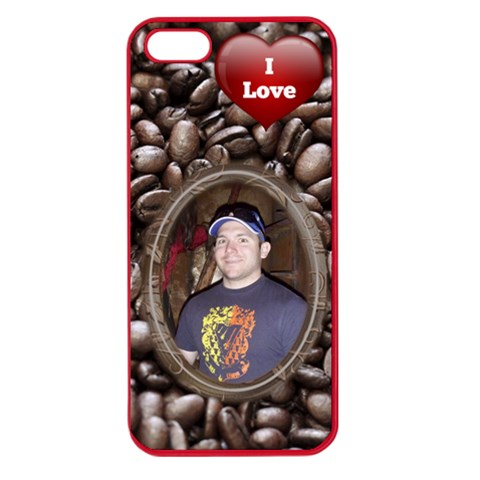 Love Coffee Apple Seamless Iphone 5 Case By Deborah   Apple Seamless Iphone 5 Case (color)   5bev9h4qy52s   Www Artscow Com Front