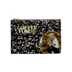 Coffee Cosmetic Bag (medium) By Deborah   Cosmetic Bag (medium)   I0451lpoxc0h   Www Artscow Com Front