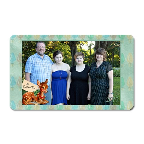 Christmas Vintage Magnet By Patricia W   Magnet (rectangular)   Uu7ddhb8dfti   Www Artscow Com Front